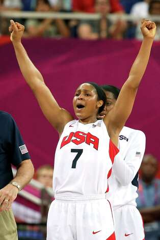 Maya Moore of United States reacts late in the fourth quarter during the game against France Saturday. The US won the game and the gold medal.  (Photo by Christian Petersen/Getty Images) Photo: Christian Petersen, Ap/getty / 2012 Getty Images