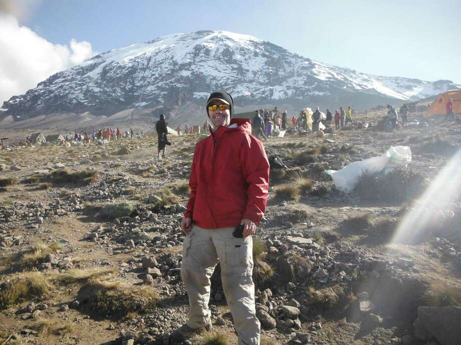 Saratoga National Bank and Trust Co. CEO Ray O'Conor hiked up Mount Kilimanjaro in Tanzania a couple of weeks ago.  Photo courtesy Ray O'Conor