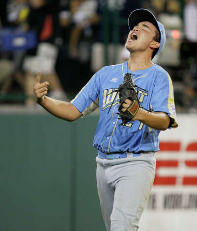 Chula Vista, Calif., pitcher Luke Ramirez reacts after they defeated McAllister Park Little League 12-2, in the U.S. Championship game of the 2009 Little League World Series on Saturday, Aug. 29, 2009 in South Williamsport, Pa. Photo: Jerry Lara, San Antonio Express-News / glara@express-news.net