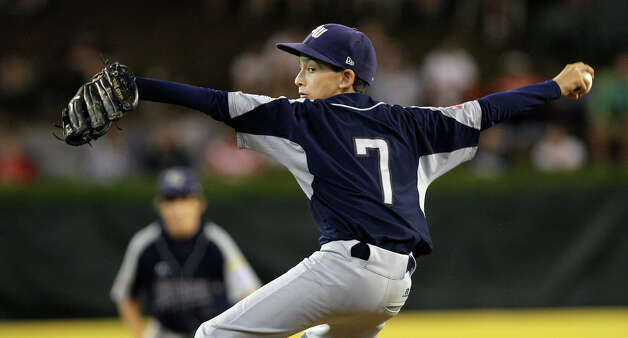 McAllister Park Little League's Troy Montemayor is the last pitcher brought out during their loss to Chula Vista, Calif., 12-2, in the U.S. Championship game of the 2009 Little League World Series on Saturday, Aug. 29, 2009 in South Williamsport, Pa. Photo: Jerry Lara, San Antonio Express-News / glara@express-news.net