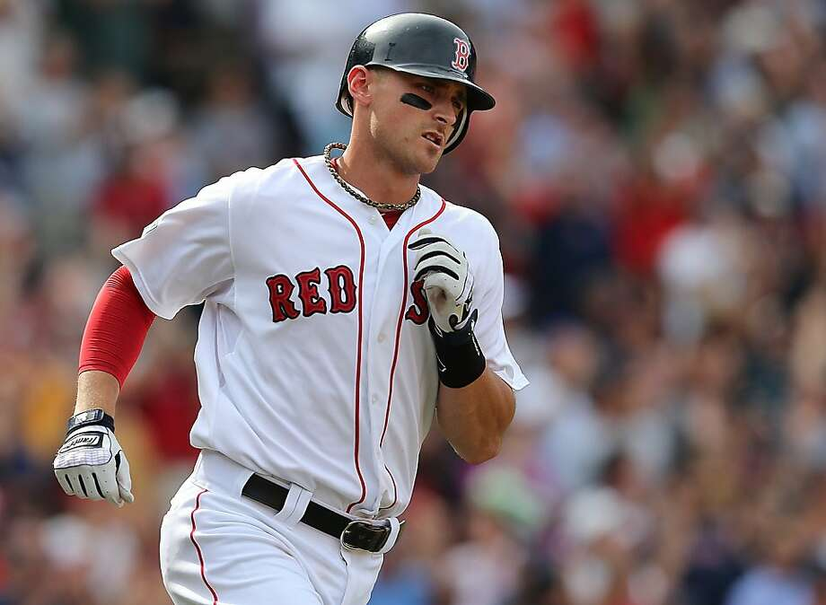 Red Sox rookie third baseman Will Middlebrooks was hit by a pitch Friday night. Photo: Jim Rogash, Getty Images