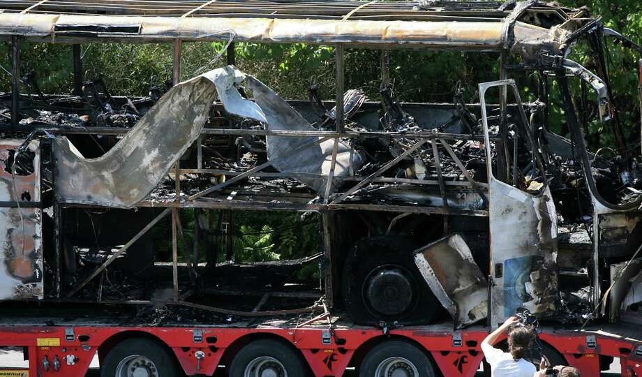A July 18 deadly bombing of a bus in Bulgaria carrying Israeli tourists has raised concerns about the possibility of a terrorist attack in the U.S. by Iran or its allies. Photo: STR / AP2012