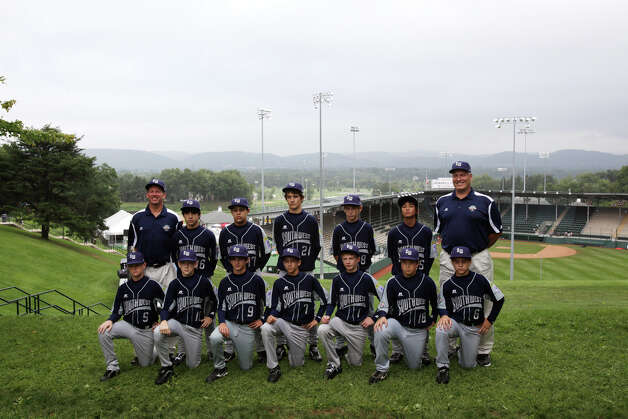 McAllister Park Little League poses for team photos by Howard J. Lamade Stadium before interviews by national media in South Williamsport, Pa., Thursday, Aug. 20, 2009. Photo: Jerry Lara, San Antonio Express-News / glara@express-news.net