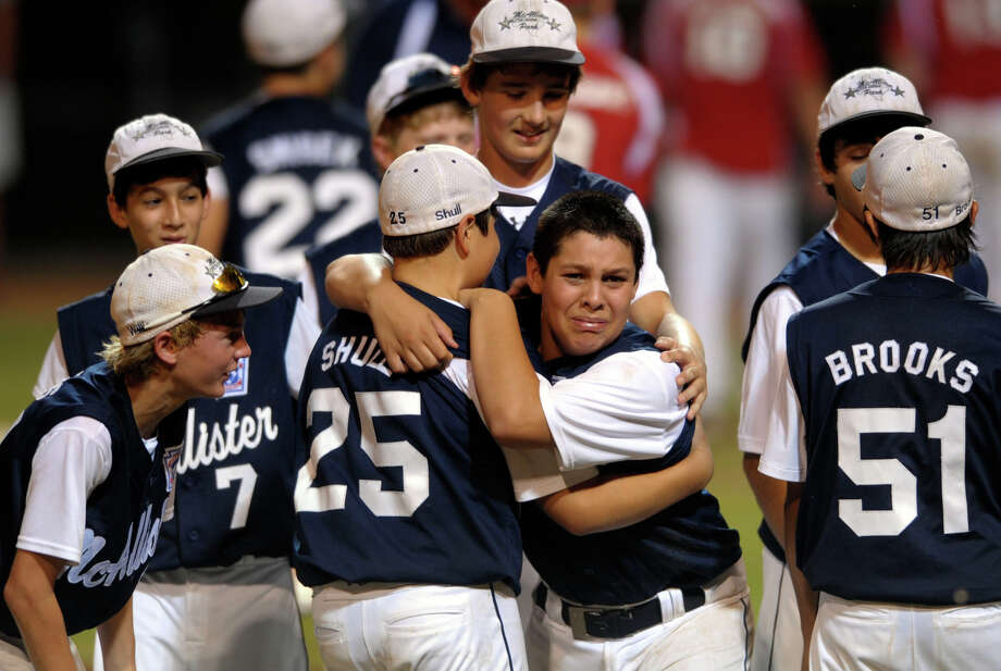 San Antonio was watching when the McAllister Park team went to the Little League World Series in 2009. Now, the team's on its way back to Williamsport, Pa. Here's a look back at the team's 2009 championship bid. McAllister Park catcher Travis Daves (center) cries tears of joy after his team defeated Bridge City Little League in Waco to go to the Little League World Series. Thursday, Aug. 13, 2009. Photo: Billy Calzada, San Antonio Express-News / gcalzada@express-news.net