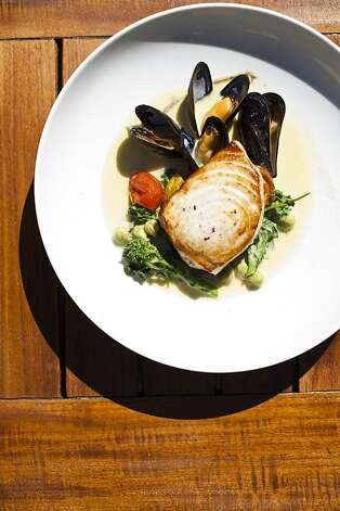 The roasted swordfish at Wente Restaurant. Photo: Jason Henry, Special To The Chronicle