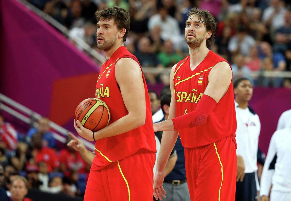 No. 3 He's an Olympic star: The Gasol brothers have been members of two Spanish teams that claimed silver medals in the 2008 and 2012 Summer Olympics. Here, they prepare before the gold medal game between the United States and Spain on Day 16 of the London 2012 Olympics Games at North Greenwich Arena on August 12, 2012 in London, England.