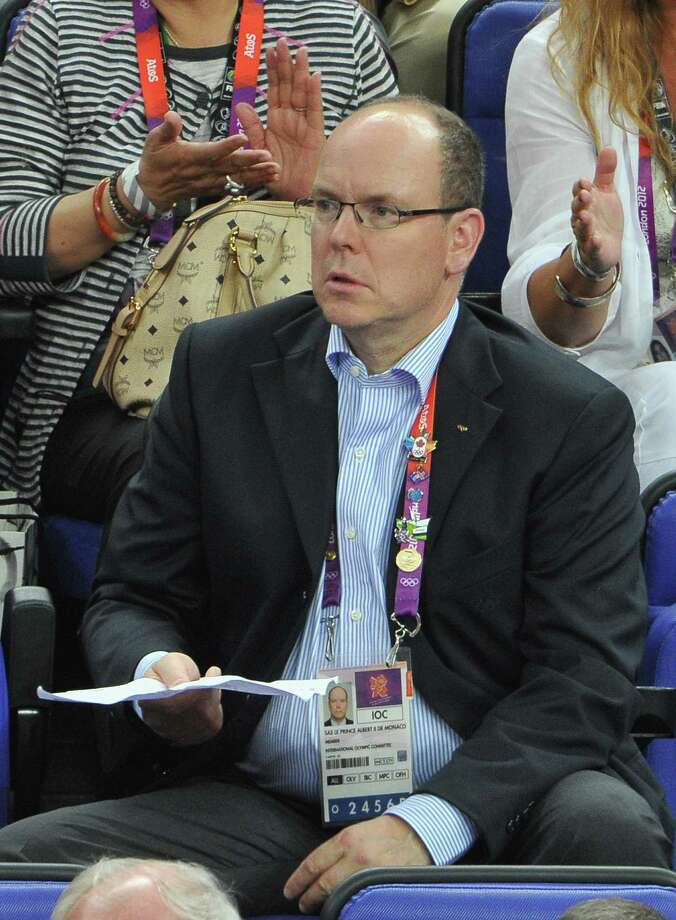 LONDON, ENGLAND - AUGUST 12:  Prince Albert II of Monaco during the Men's Basketball gold medal game between the United States and Spain on Day 16 of the London 2012 Olympics Games at North Greenwich Arena on August 12, 2012 in London, England. Photo: Pascal Le Segretain, Getty Images / 2012 Getty Images