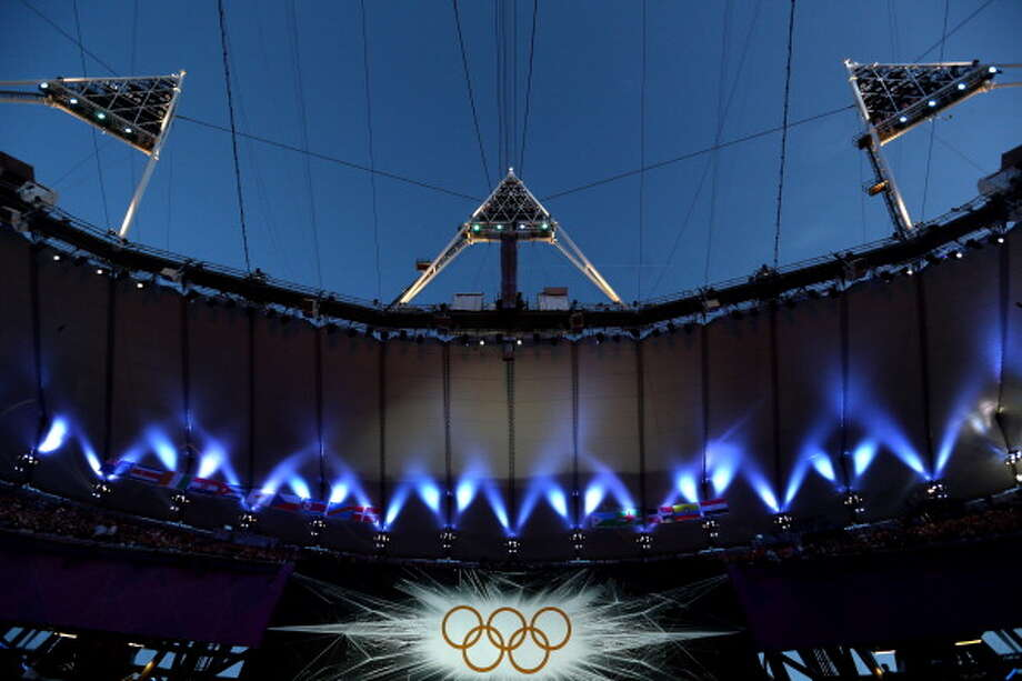 A general view of the stadium ahead of the Closing Ceremony at Olympic Stadium in London. Photo: Getty Images