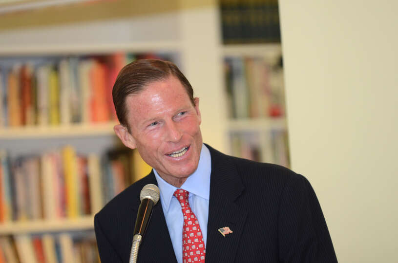 United States Senator Richard Blumenthal speaks during the observation of the 67th anniversary of th