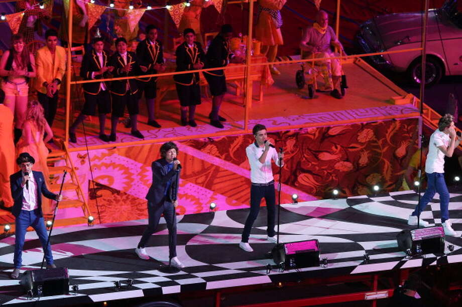 One Direction perform during the Closing Ceremony. Photo: Getty Images