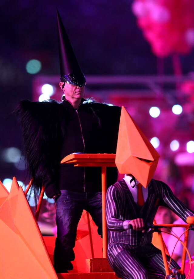 Chris Lowe of the Pet Shop Boys during the Closing Ceremony. Photo: Getty Images
