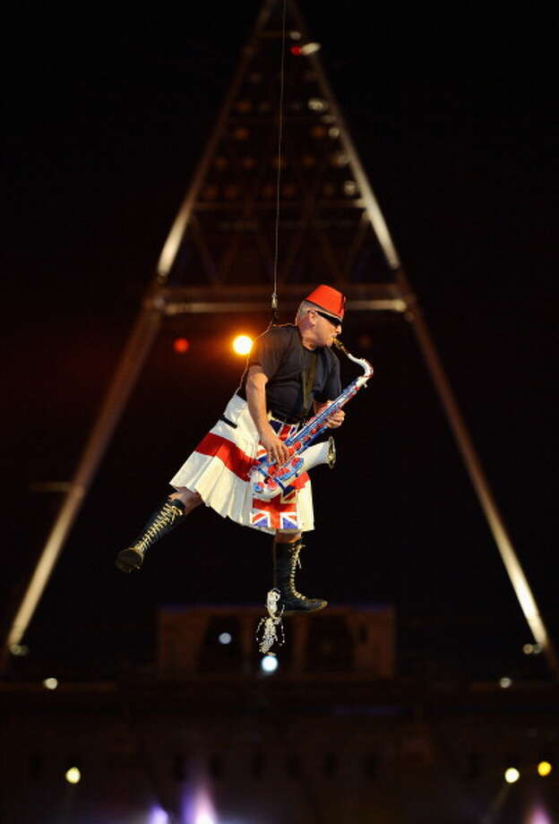 Lee Thompson of Madness performs during the Closing Ceremony. Photo: Getty Images