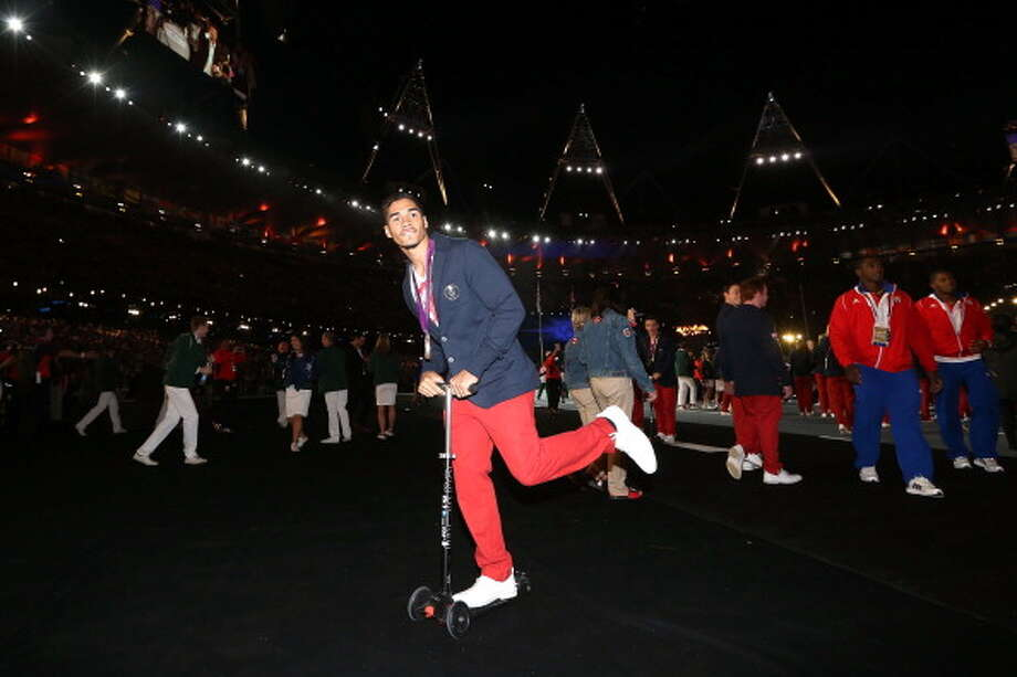 Louis Smith of Great Britain during the Closing Ceremony. Photo: Getty Images