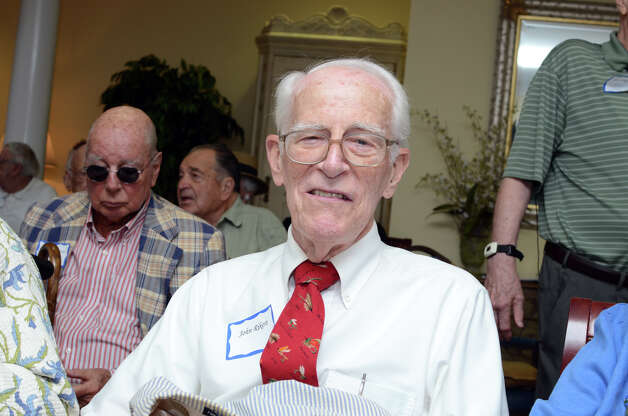 WWII Army veteran John Rikert, of Darien, participates in the observation of the 67th anniversary of the end of WWII at Atria Senior Living in Darien on Sunday, Aug. 12, 2012. Photo: Amy Mortensen / Connecticut Post Freelance