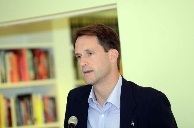 Congressman Jim Himes speaks during the observation of the 67th anniversary of the end of WWII at Atria Senior Living in Darien on Sunday, Aug. 12, 2012. Photo: Amy Mortensen / Connecticut Post Freelance