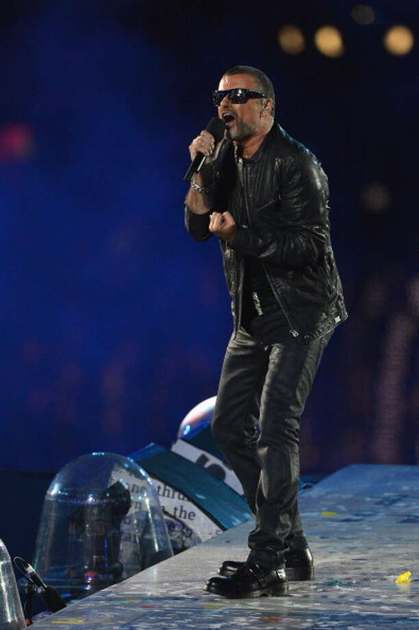 George Michael performs during the Closing Ceremony. Photo: Getty Images