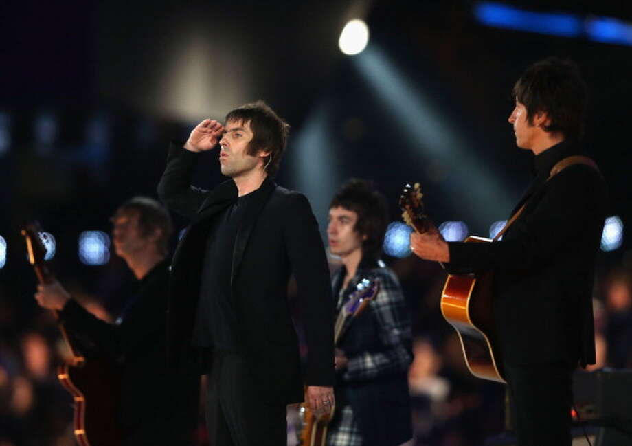 Liam Gallagher of Beady Eye performs during the Closing Ceremony. Photo: Getty Images