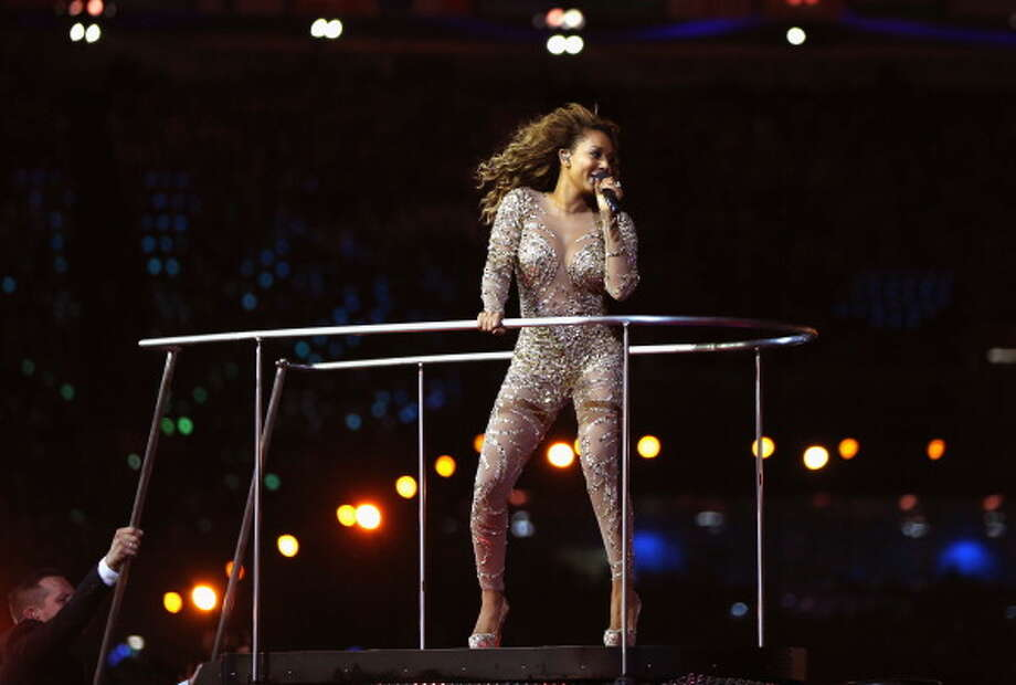 Melanie Brown of The Spice Girls during the Closing Ceremony. Photo: Getty Images