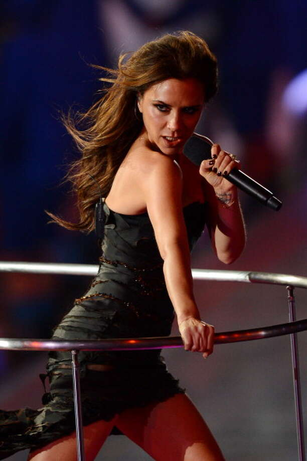 Victoria Beckham of the Spice Girls performs during the Closing Ceremony. Photo: Getty Images