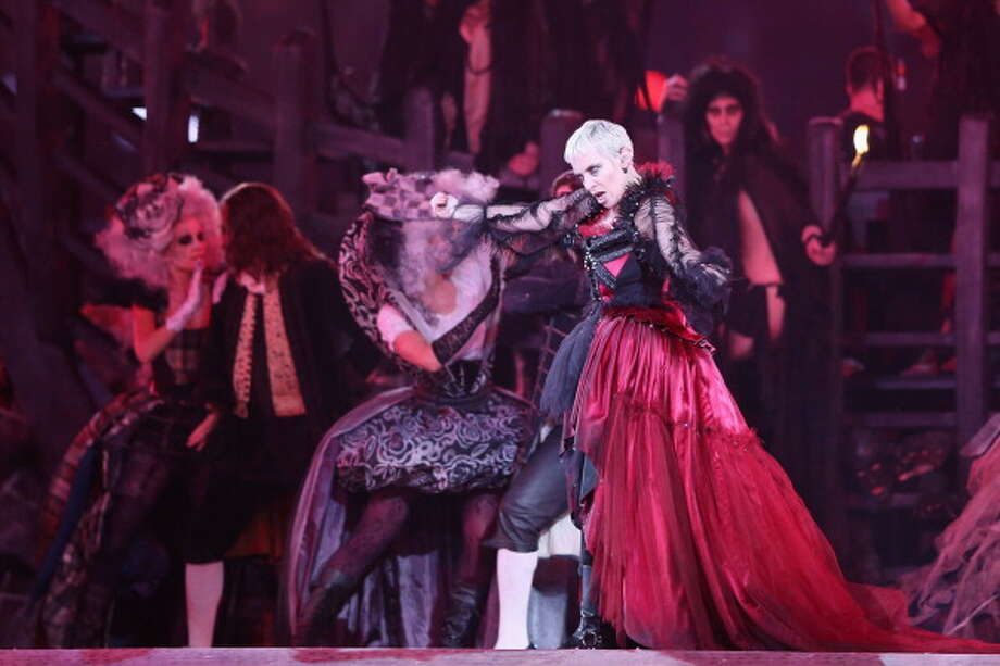 Annie Lennox performs during the Closing Ceremony. Photo: Getty Images