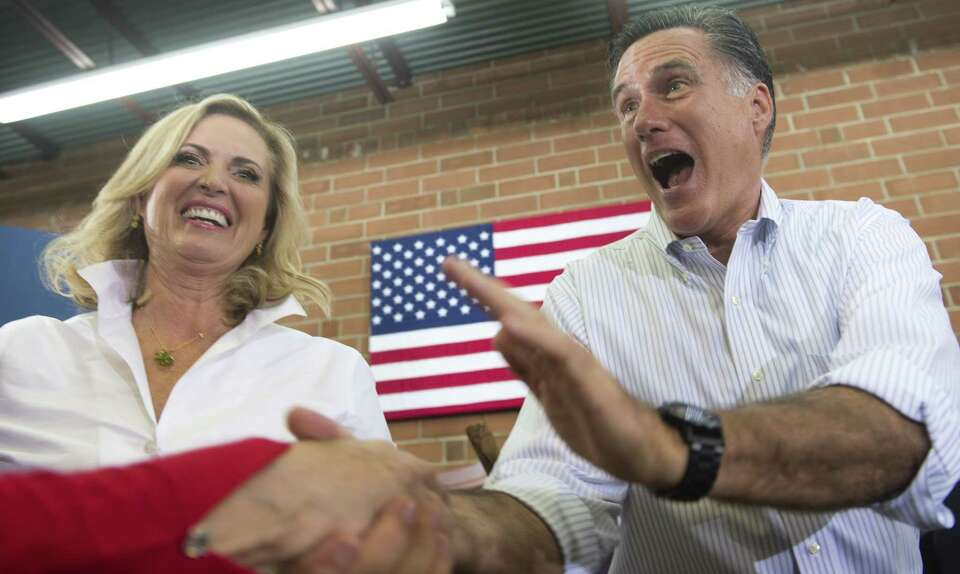 US Republican presidential candidate and former Massachusetts Governor Mitt Romney and his wife Ann