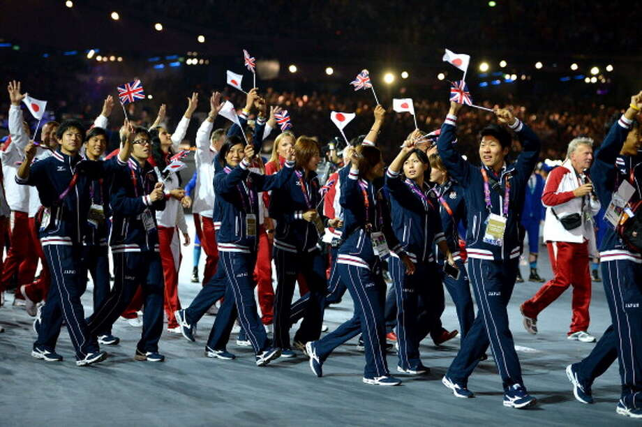 Athletes soak up the atmosphere during the Closing Ceremony. Photo: Getty Images