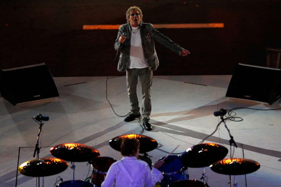 Roger Daltrey of The Who performs during the Closing Ceremony. Photo: Getty Images