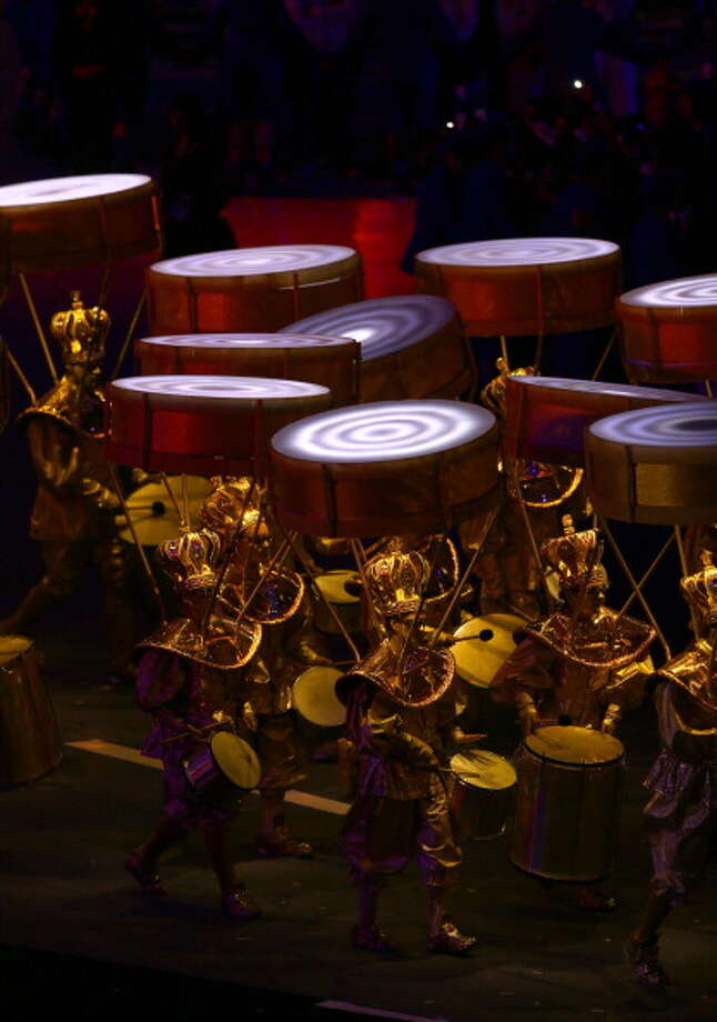 Brazilian artists perform during the Closing Ceremony. Photo: Getty Images