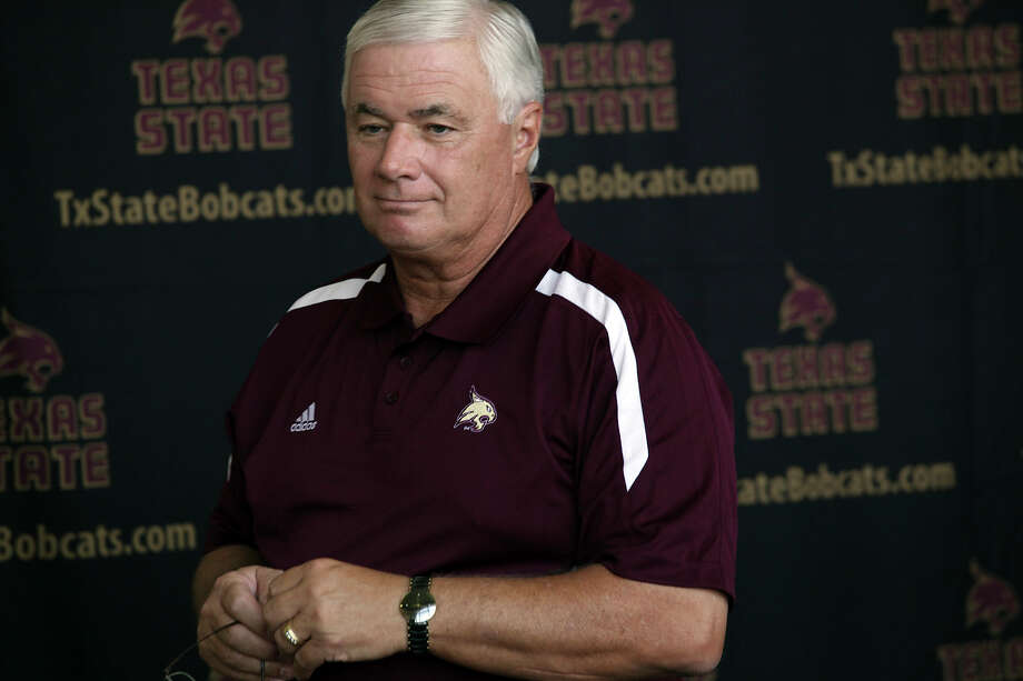 Texas State University Head Football Coach Dennis Franchione during media day at Bobcat Stadium in San Marcos, Texas, Sunday, Aug. 12, 2012. Photo: Jerry Lara, San Antonio Express-News / © 2012 San Antonio Express-News