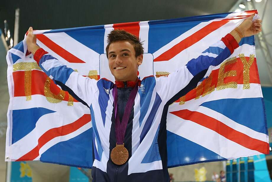 British diver Tom Daley inspired the home-country broadcasters to twisting backflips of boosterism. Photo: Clive Rose, Getty Images