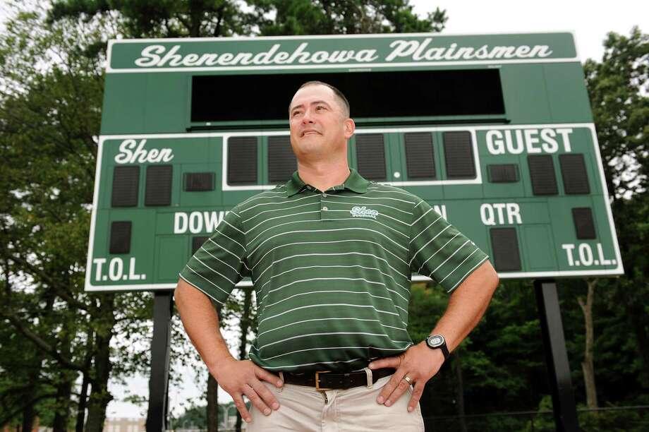 Shenendehowa football coach Brian Clawson on Saturday, Aug. 11, 2012, at Shenendehowa High in Clifton Park, N.Y. (Cindy Schultz / Times Union) Photo: Cindy Schultz / 00018813A