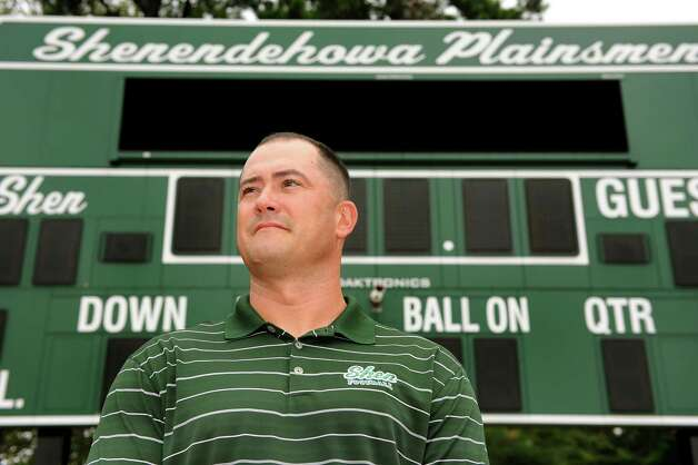 Shenendehowa football coach Brian Clawson on Saturday, Aug. 11, 2012, at Shenendehowa High in Clifton Park, N.Y. (Cindy Schultz / Times Union) Photo: Cindy Schultz / 00018813A