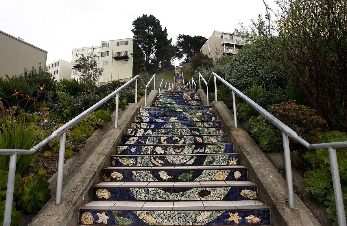 The Staircase on Moraga and 16th Ave in San Francisco, Ca on March 20, 2012.