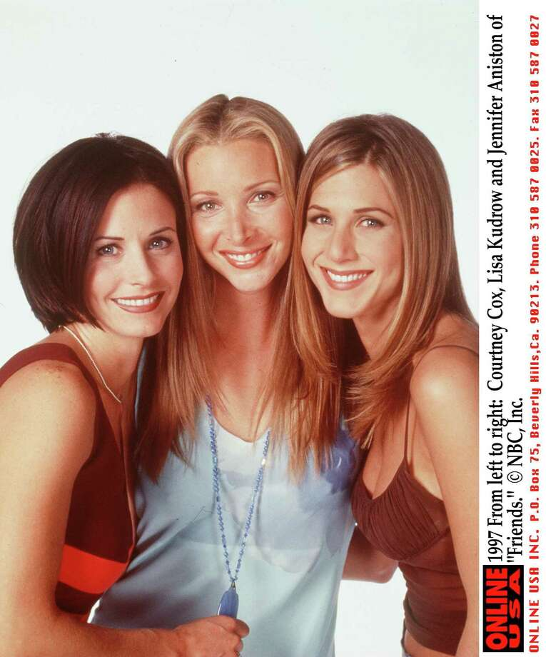 """Friends"" friends from 1997: Courteney Cox, Lisa Kudrow and Aniston. Photo: NBC, Ap/getty / Getty Images North America"