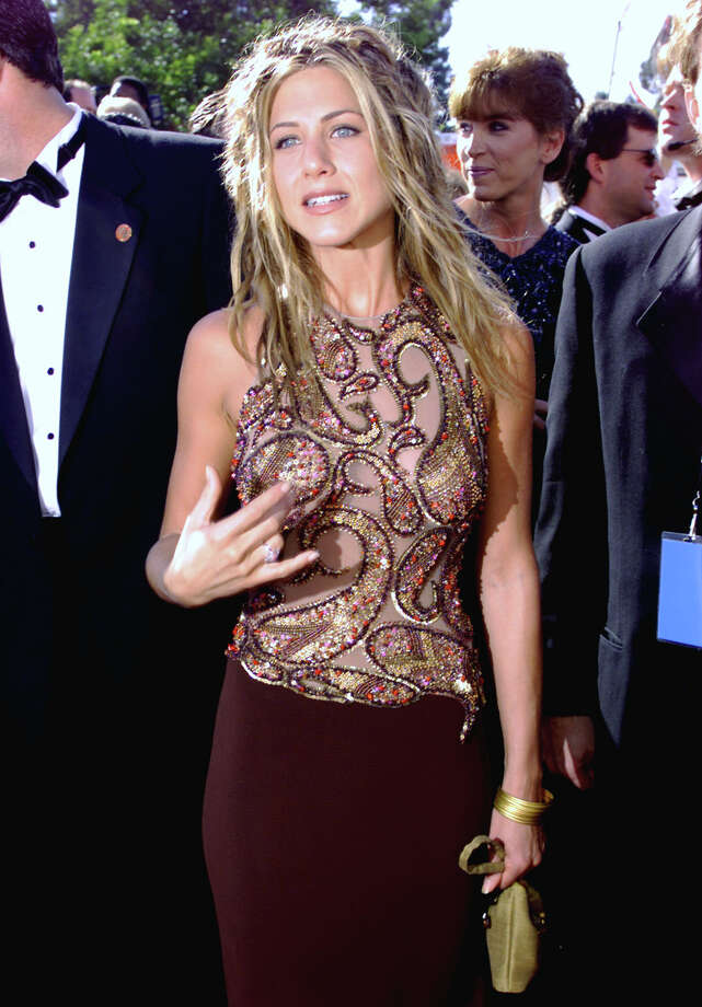 Jennifer Aniston of 'Friends' at the 1999 Emmy Awards held in Los Angeles on Sept. 13, 1999. Photo by Frank Micelotta/Getty Images Photo: Frank Micelotta, Ap/getty / Getty Images North America