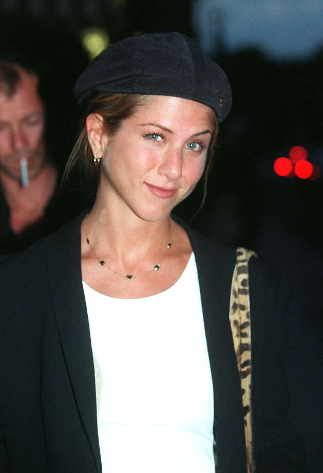 Aniston arrives at the Hotel Crillon in Paris June 26, 1998. By then, word was out that she had a new boyfriend: Brad Pitt. (photo by Newsmakers) Photo: Getty Images, Getty / Getty Images North America