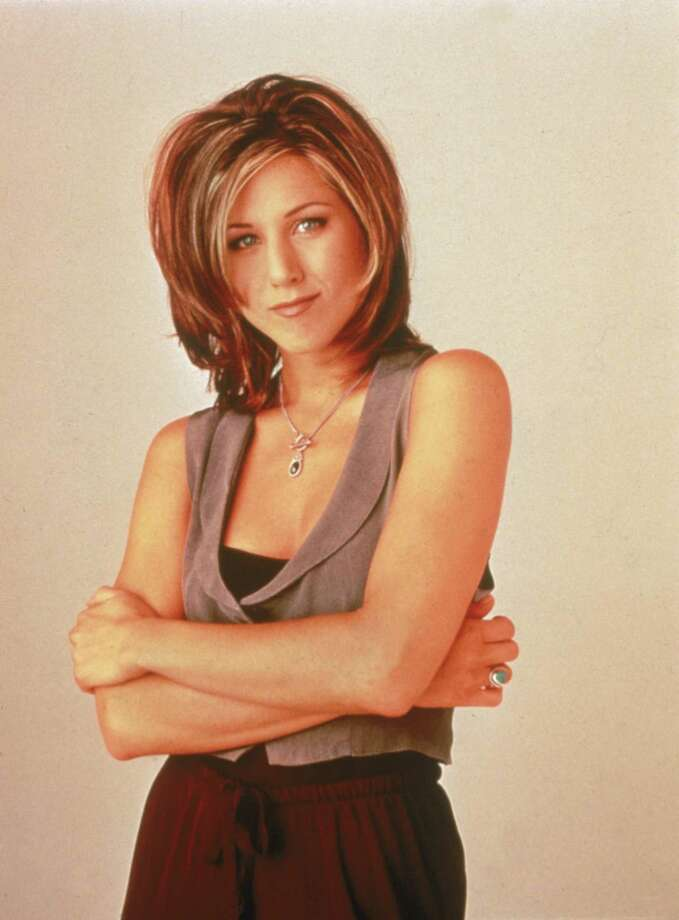 "Aniston in a 1996 publicity photo for ""Friends."" Photo: Getty Images, Getty / 2002 Getty Images"