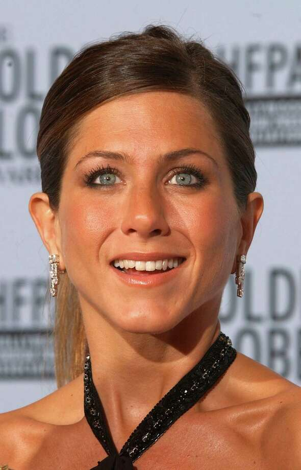 "Aniston at the 60th Annual Golden Globe Awards at the Beverly Hilton Hotel in Los Angeles on Jan. 19, 2003. Aniston won ""Best Performance by an Actress in a Television Series-Musical or Comedy"" for Friends. Photo by Frank Micelotta/ImageDirect Photo: Frank Micelotta, Getty / ImageDirect"