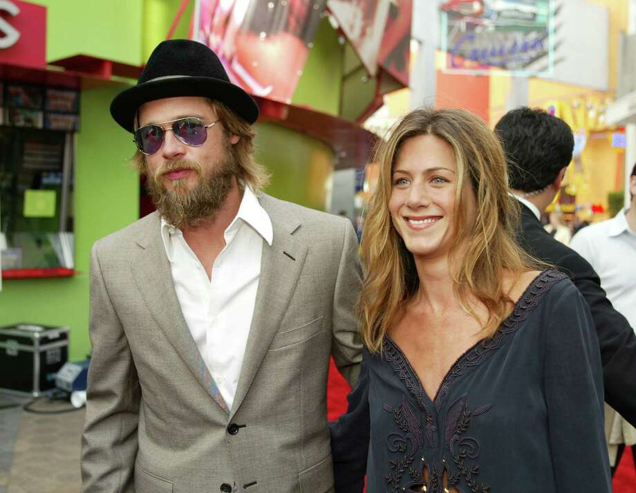 "Pitt and Aniston at the premiere of ""The Bourne Identity"" at Universal CityWalk in Los Angeles on June 6, 2002. Photo by Kevin Winter/ImageDirect Photo: Kevin Winter, Getty / Getty Images North America"