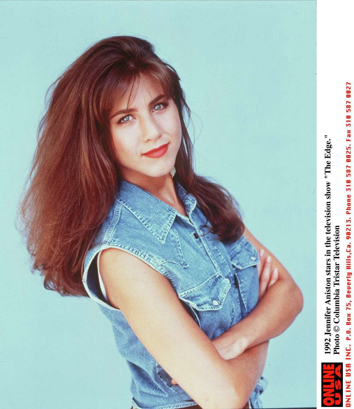 Twenty years ago, Aniston -- then a redhead -- appeared on TV in