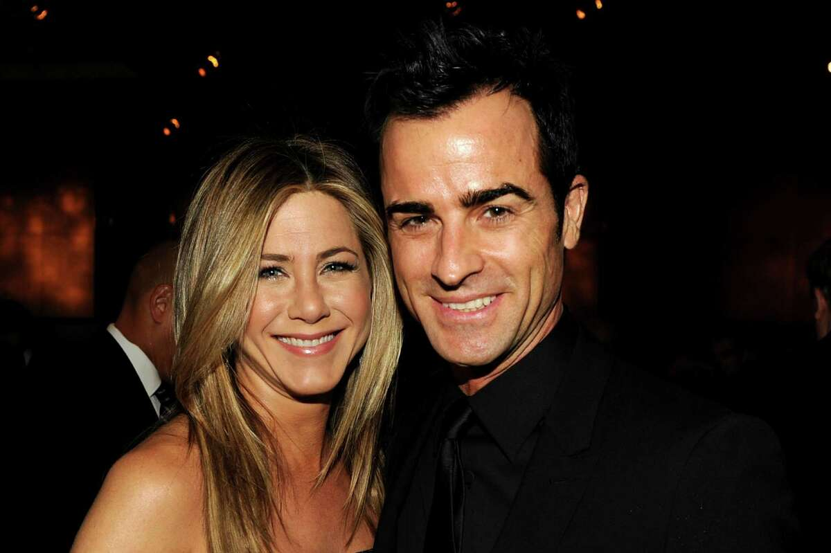 Jennifer Aniston and Justin Theroux are engaged. Here they are attending the 64th Annual Directors Guild Of America Awards cocktail reception held at the Grand Ballroom at Hollywood & Highland on Jan. 28, 2012 in Hollywood.