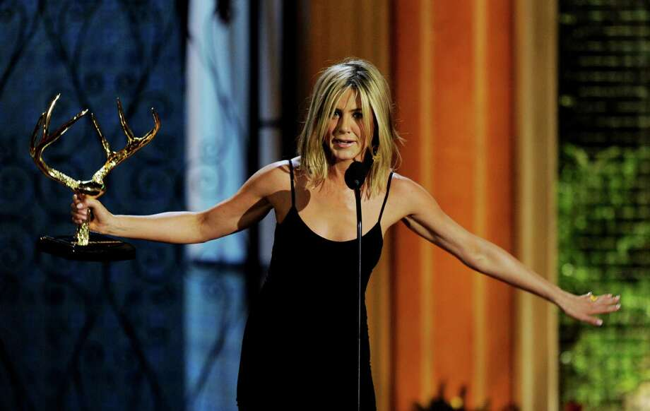 "Aniston accepts the Decade of Hotness award at Spike TV's 5th Annual ""Guys Choice Awards"" at Sony Studios on June 4, 2011 in Culver City, Calif. Photo: Kevin Winter, Getty / 2011 Getty Images"