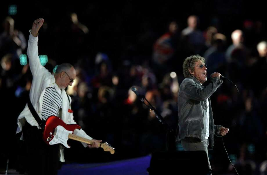 The Who guitarist Pete Townsend, left, and singer Roger Daltrey perform during the Closing Ceremony at the 2012 Summer Olympics, Monday, Aug. 13, 2012, in London. (AP Photo/Matt Slocum) Photo: Matt Slocum