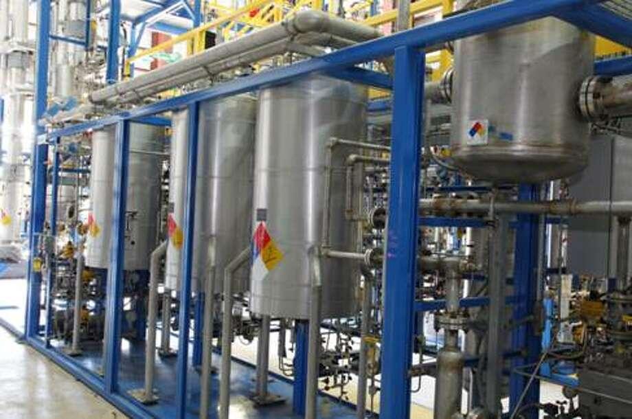 Inside INVISTA?s pilot scale facility in Orange. Photo: INVISTA
