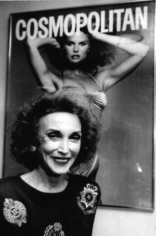 Helen Gurley Brown, Editor-in-chief of Cosmopolitan magazine photographed on April 26, 1990. Photo: None