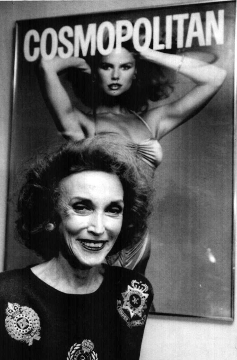 Helen Gurley Brown, Editor-in-chief of Cosmopolitan magazine photographed on April 26, 1990.