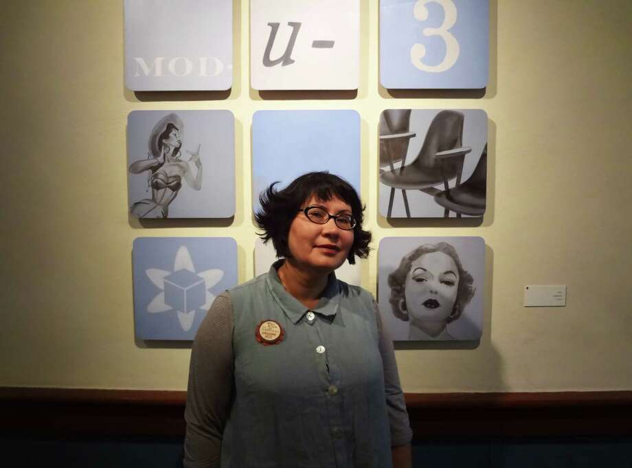 San Antonio artist Rainey is inspired by a '50s and '60s sensibility in her work. Photo: Steve Bennett, San Antonio Express-News