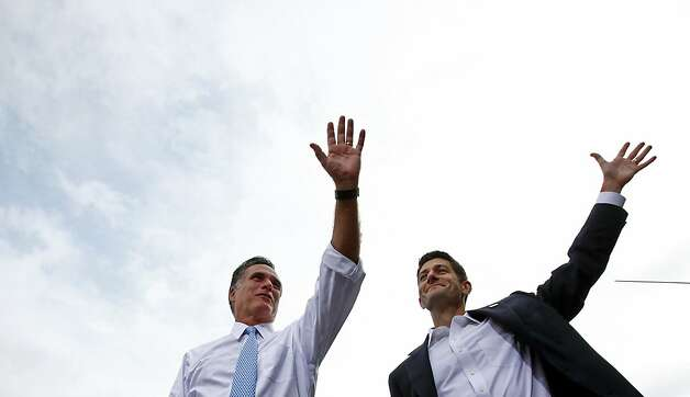GOP presidential candidate Mitt Romney and running mate Paul Ryan haven't been reluctant to raise funds in the state. Photo: Eric Thayer, New York Times