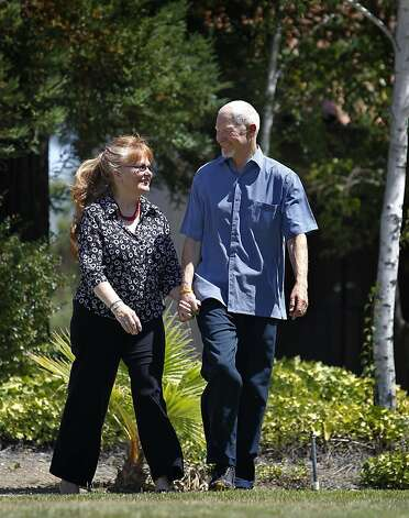 "Art Tenbrink goes for a walk with his wife Joan near their home in Pleasanton, Calif. on Thursday, Aug. 9, 2012. Art Tenbrink was diagnosed with prostate cancer a few years ago but decided on an ""active surveillance"" approach to monitoring its progress rather than an aggressive treatment program to deal with it. Photo: Paul Chinn, The Chronicle"