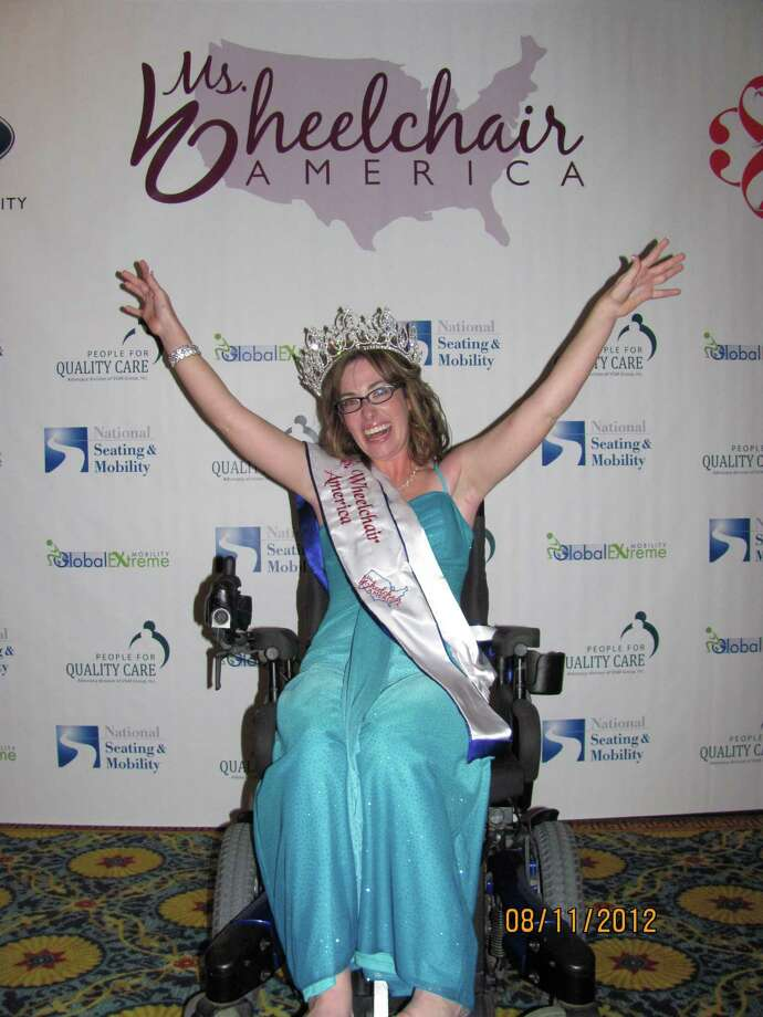 Converse resident Mariah Kilbourne celebrates after being named Ms. Wheelchair America 2013 at the national competition in Providence, R.I. on Aug. 11, 2012. She will spend the year traveling the country as a national spokeswoman for Americans with disabilities. Photo: Courtesy, Ms. Wheelchair America